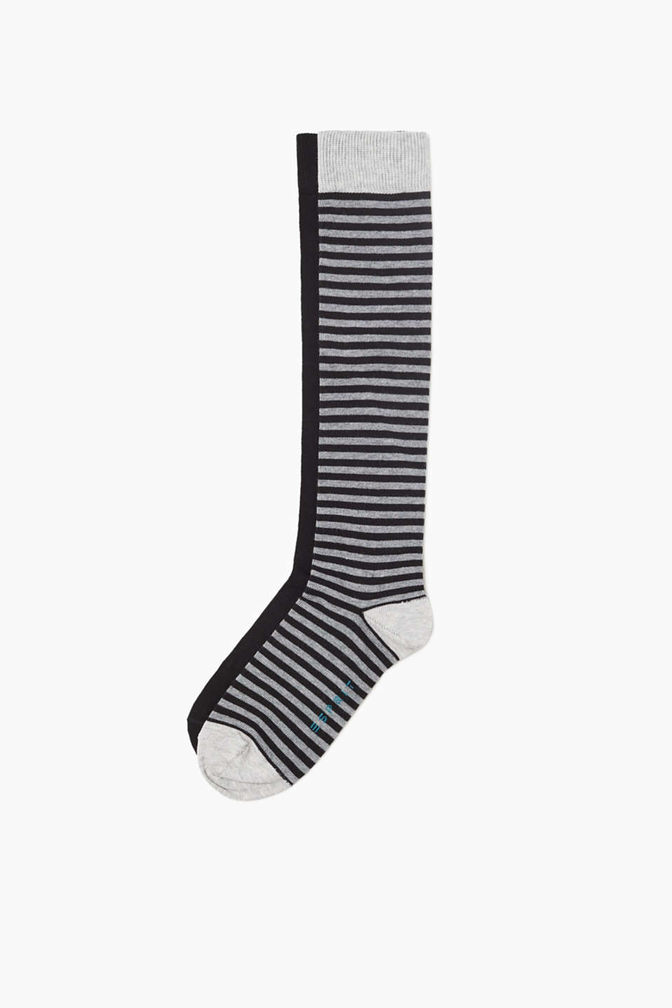 Esprit - Double pack of striped knee-high socks
