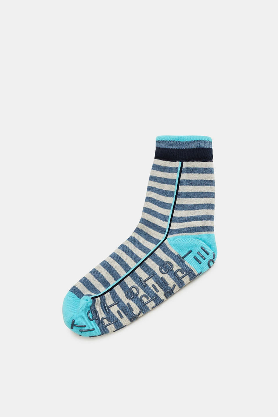 Esprit - Non-slip socks with sporty stripes