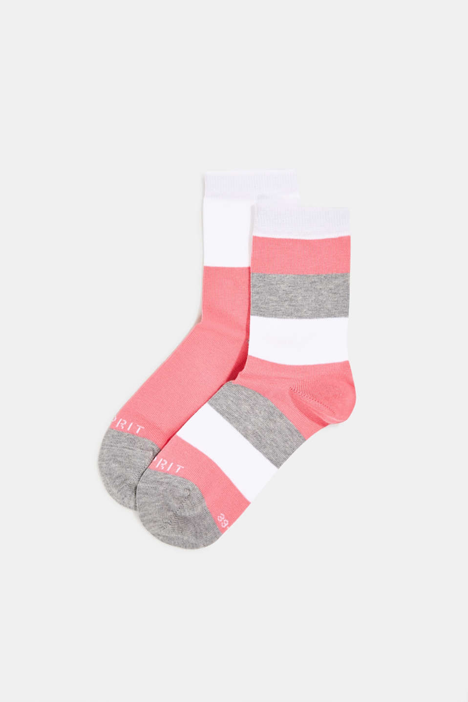 Esprit - Double pack of socks with block stripes