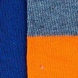 2-pack of striped knee-high socks, DEEP BLUE, swatch