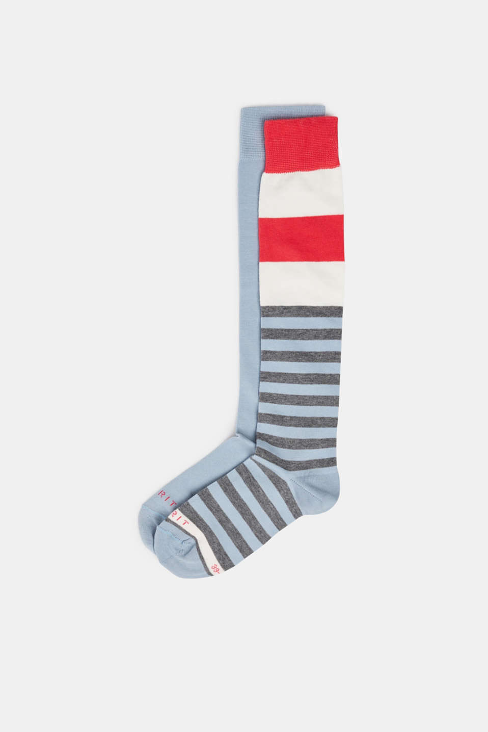 2-pack of striped knee-high socks, LIGHTSTEEL, detail image number 0