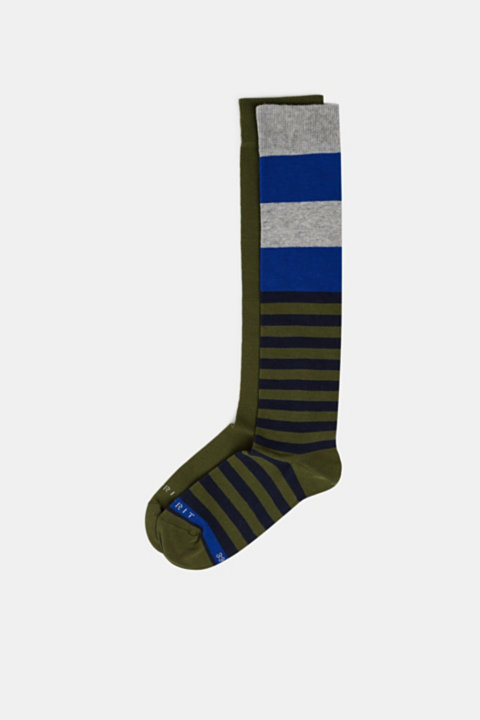 2-pack of striped knee-high socks