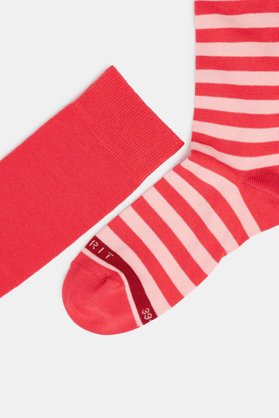 2-pack of striped knee-high socks, PINK, detail image number 1