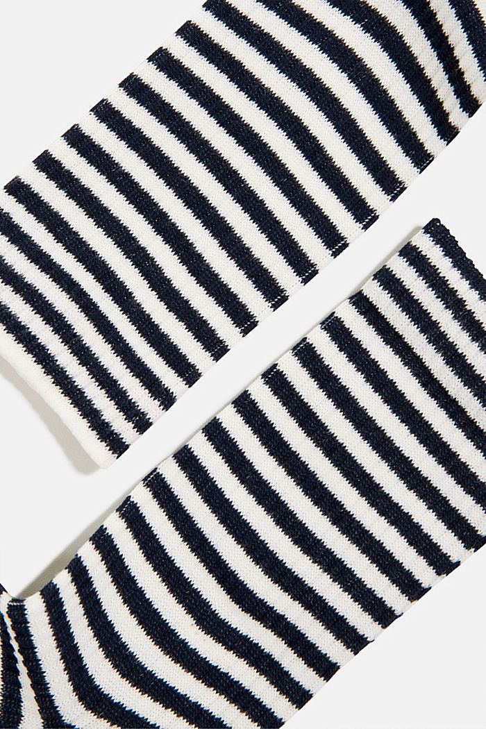 2er-Pack Socken im Streifen-Look, MARINE, detail image number 1