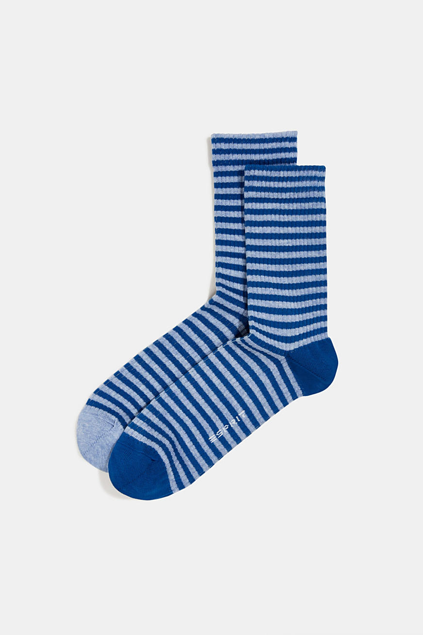 Double pack of socks with a striped look