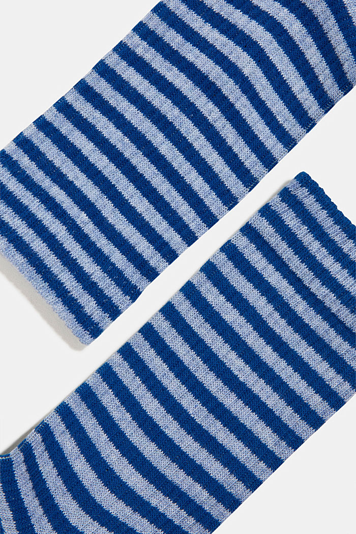 Sokker i et stribet look i en pakke med 2 par, JEANS, detail image number 1
