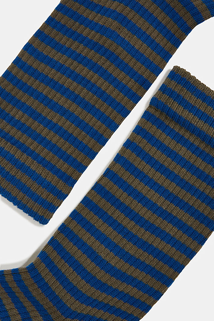 2er-Pack Socken im Streifen-Look, PETROL BLUE, detail image number 1