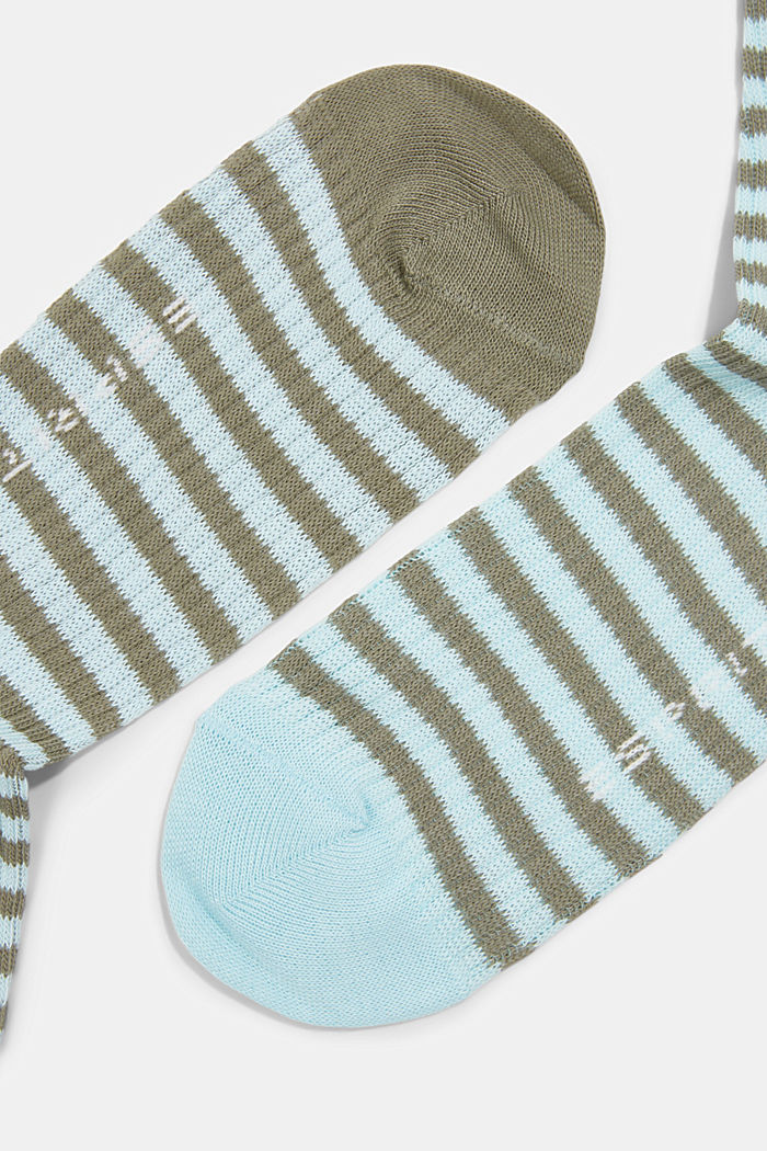 2er-Pack Socken im Streifen-Look, JUNGLE, detail image number 1