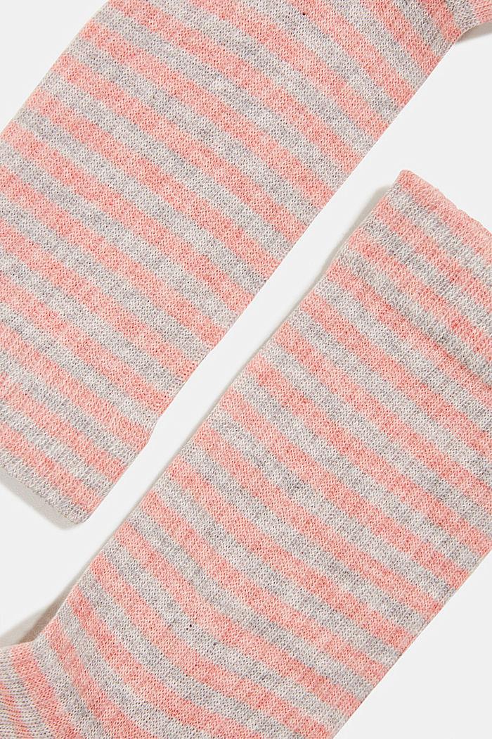 Set van 2 paar sokken in een strepenlook