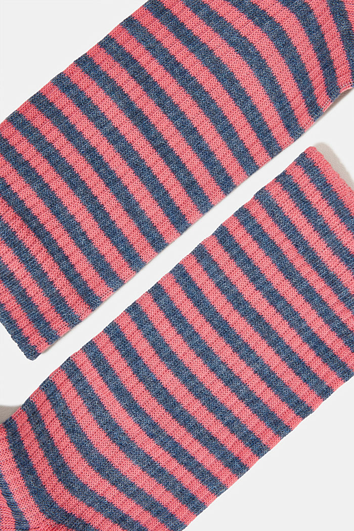 2er-Pack Socken im Streifen-Look, FUCHSIA, detail image number 1
