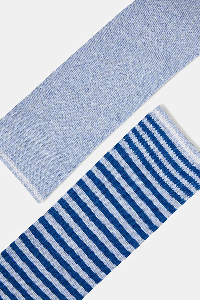 Double pack of knee-high socks in a striped look