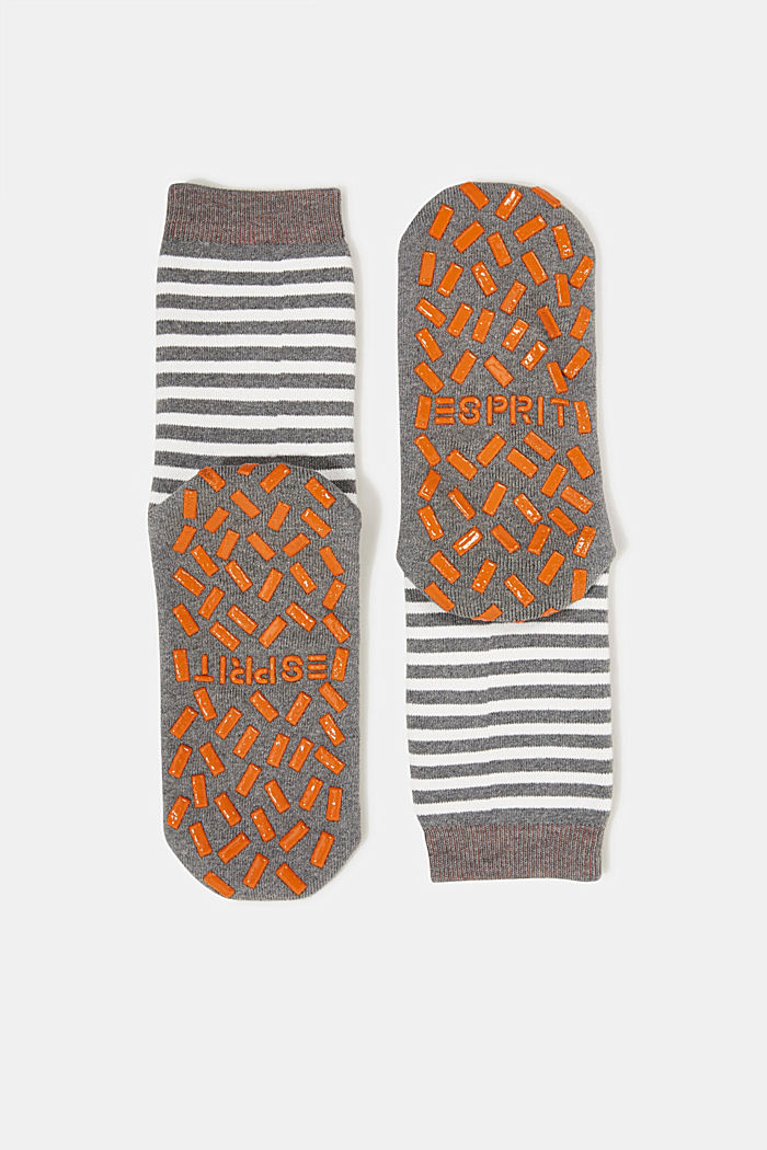 Striped socks with stoppers