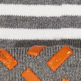 Striped socks with stoppers, LIGHT GREYMEL, swatch