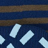 Striped socks with stoppers, ROYAL BLUE, swatch