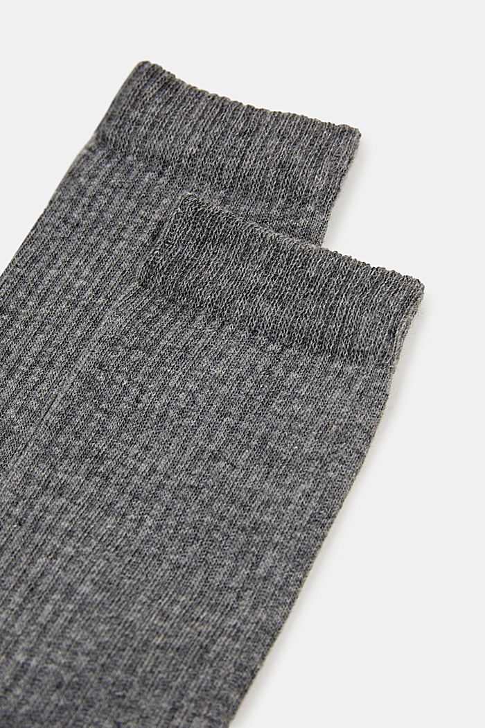 2er-Pack Socken mit Ripp-Struktur, LIGHT GREY MELANGE, detail image number 1