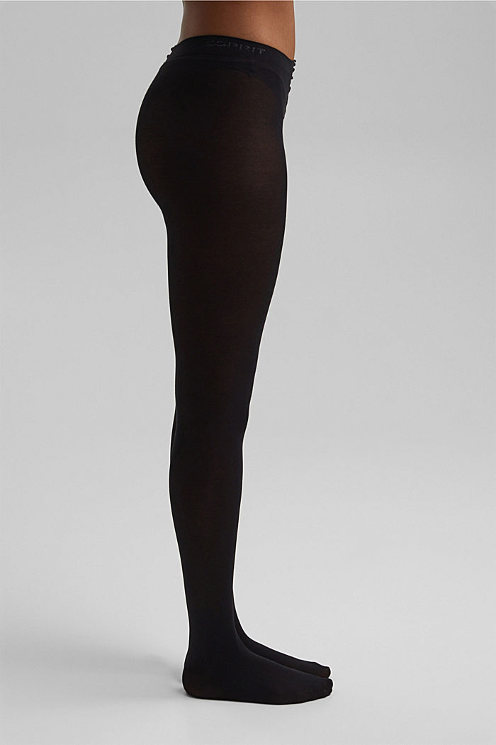Opaque cotton blend tights