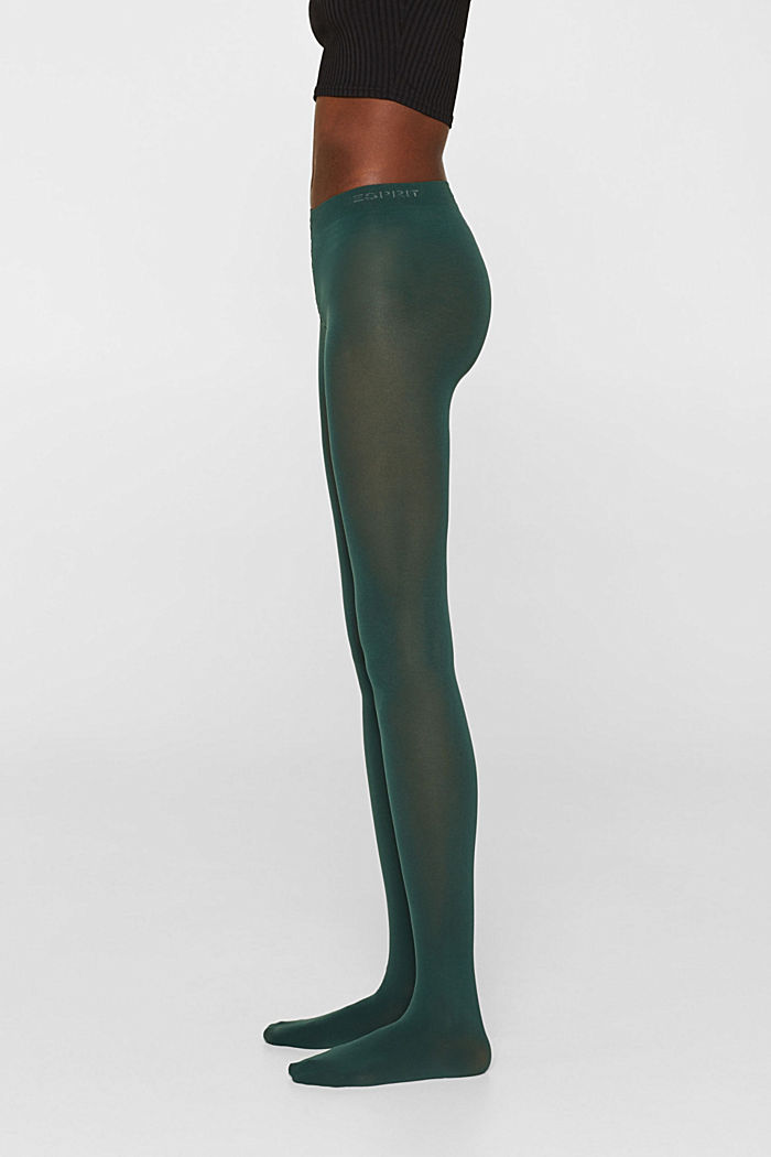 Tights in blended cotton with added stretch, FIR TREE, detail image number 2