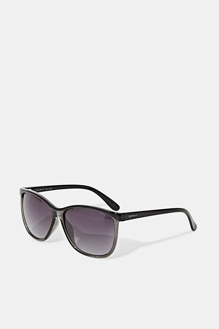 Sunglasses with semi-transparent frames