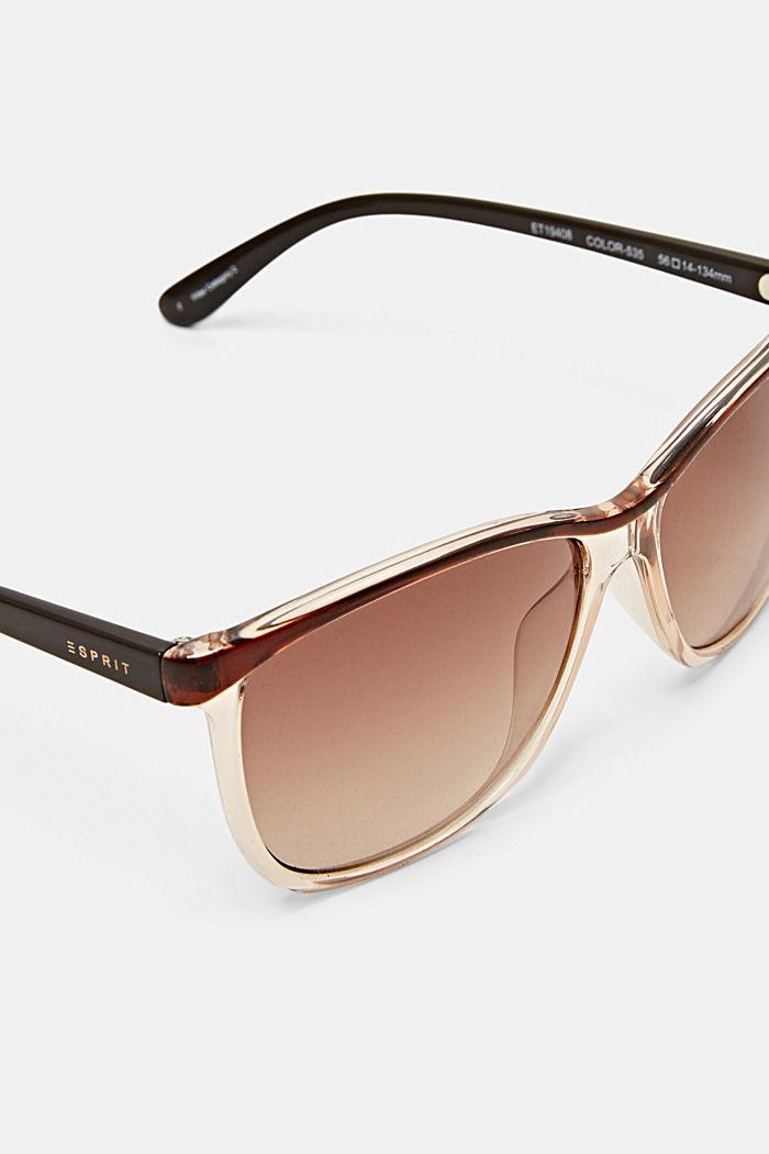Sluneční brýle s poloprůhlednými očnicemi, BROWN, detail image number 2