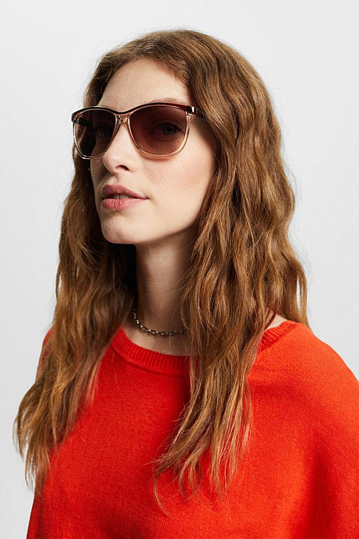 Sluneční brýle s poloprůhlednými očnicemi, BROWN, detail image number 3
