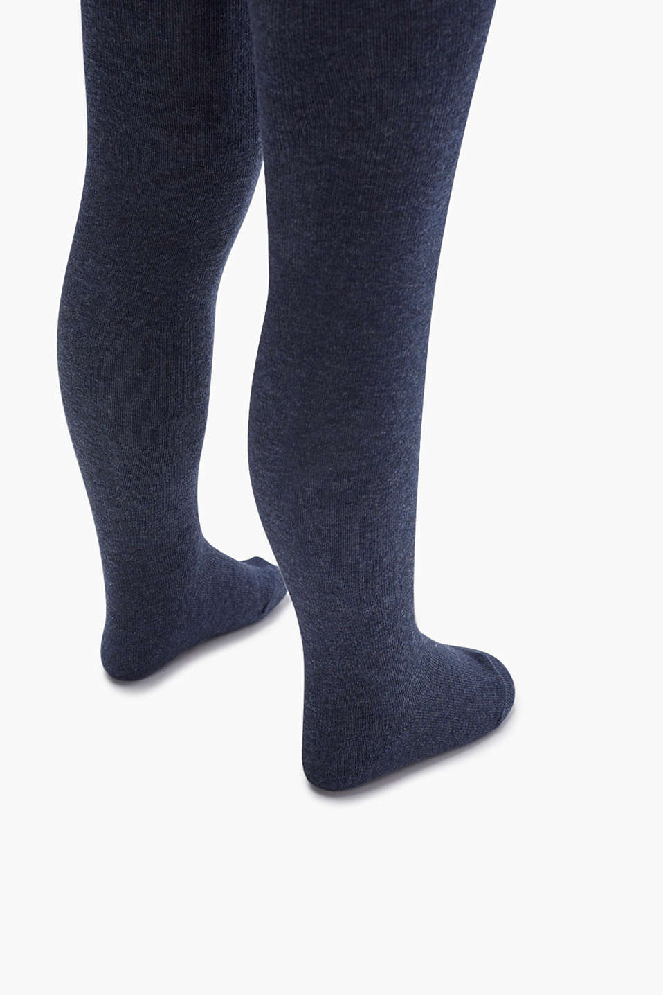 Cotton blend tights, PETROL BLUE, detail image number 1
