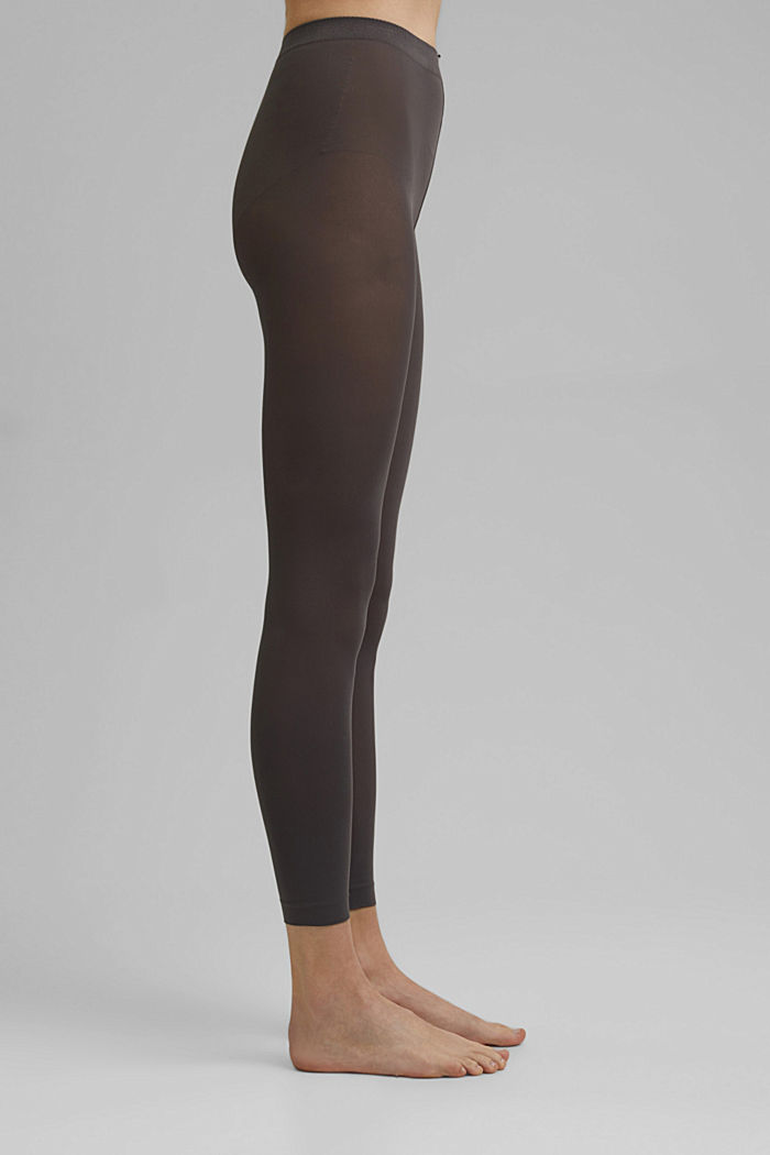 Semi-opaque leggings, 50 DEN, STONE GREY, detail image number 0