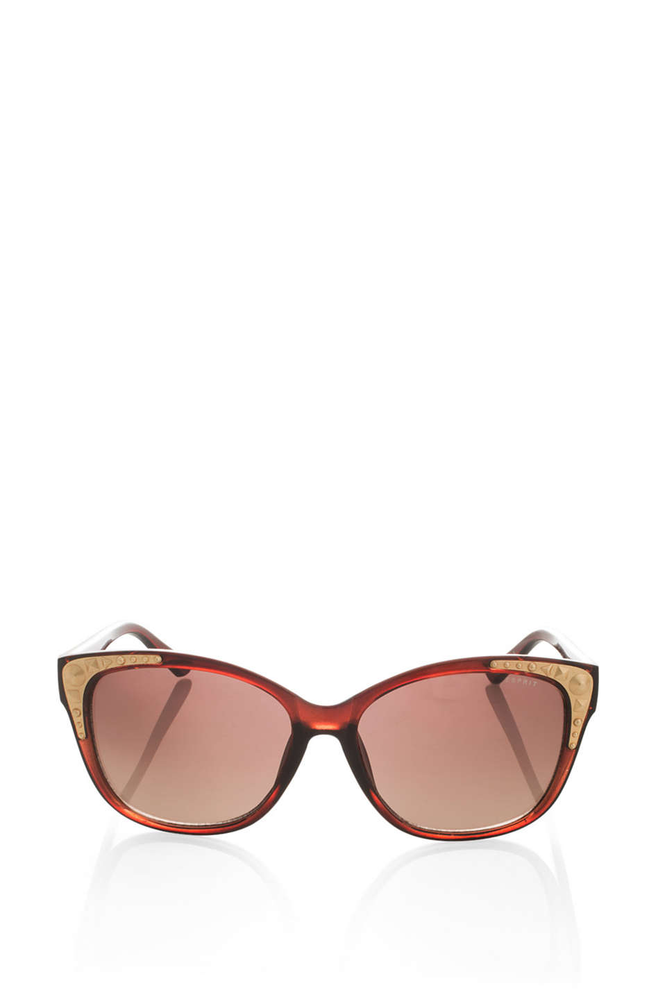 Cat eye sunglasses with studs