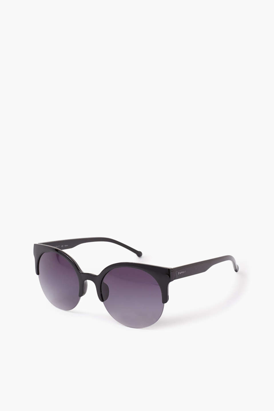 A fashion piece: Trendy sunglasses in an extravagant design, made of plastic