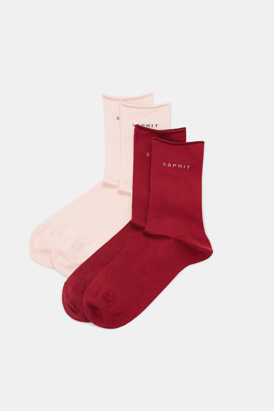Double pack of socks in a melange look, SORTIMENT, detail image number 0