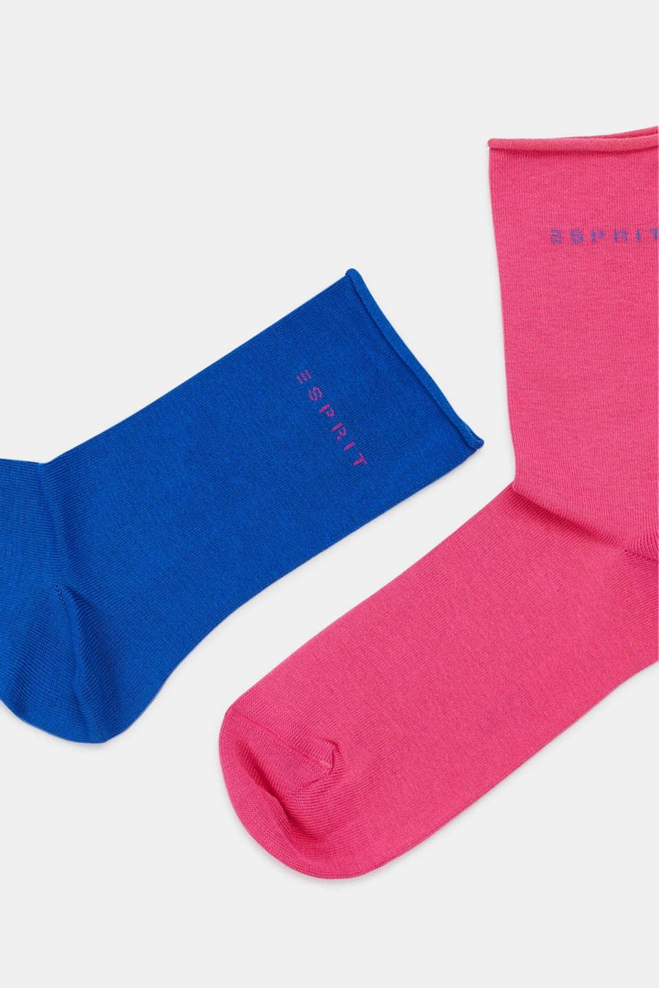Double pack of socks in a melange look, SORTIMENT, detail image number 1