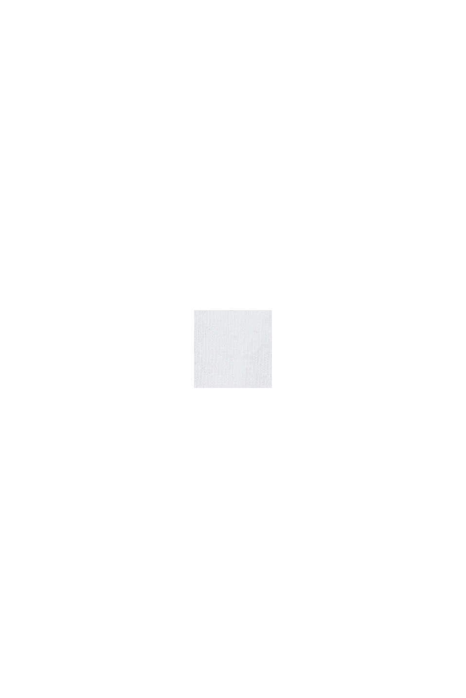 Calze con bordini arrotolati in misto cotone, WHITE, swatch