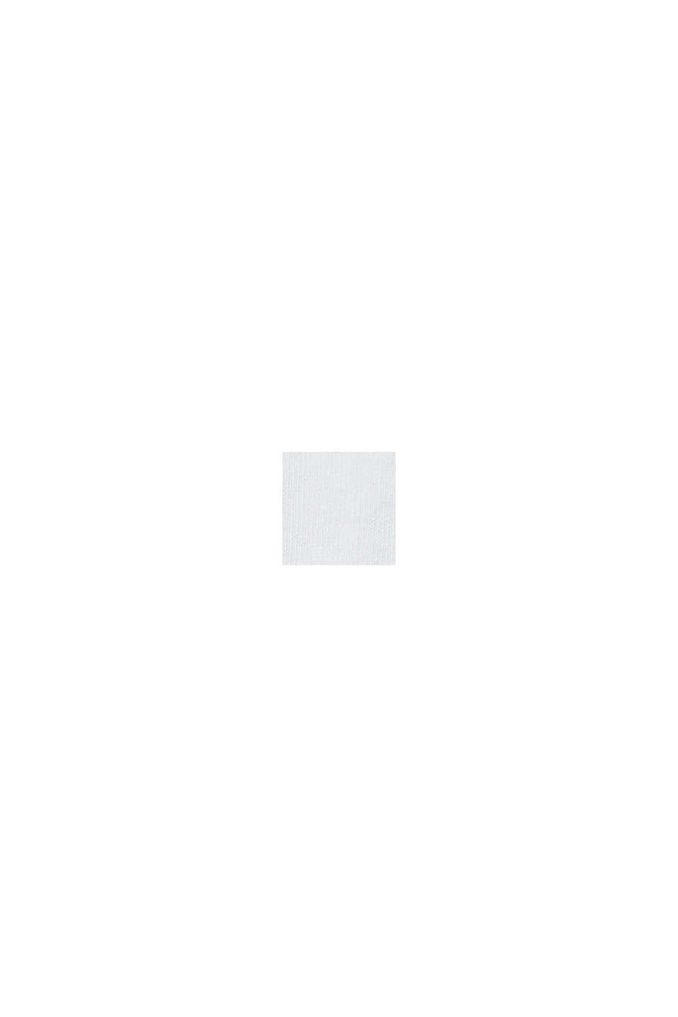 Strumpor med rullkant i bomullsmix, WHITE, swatch