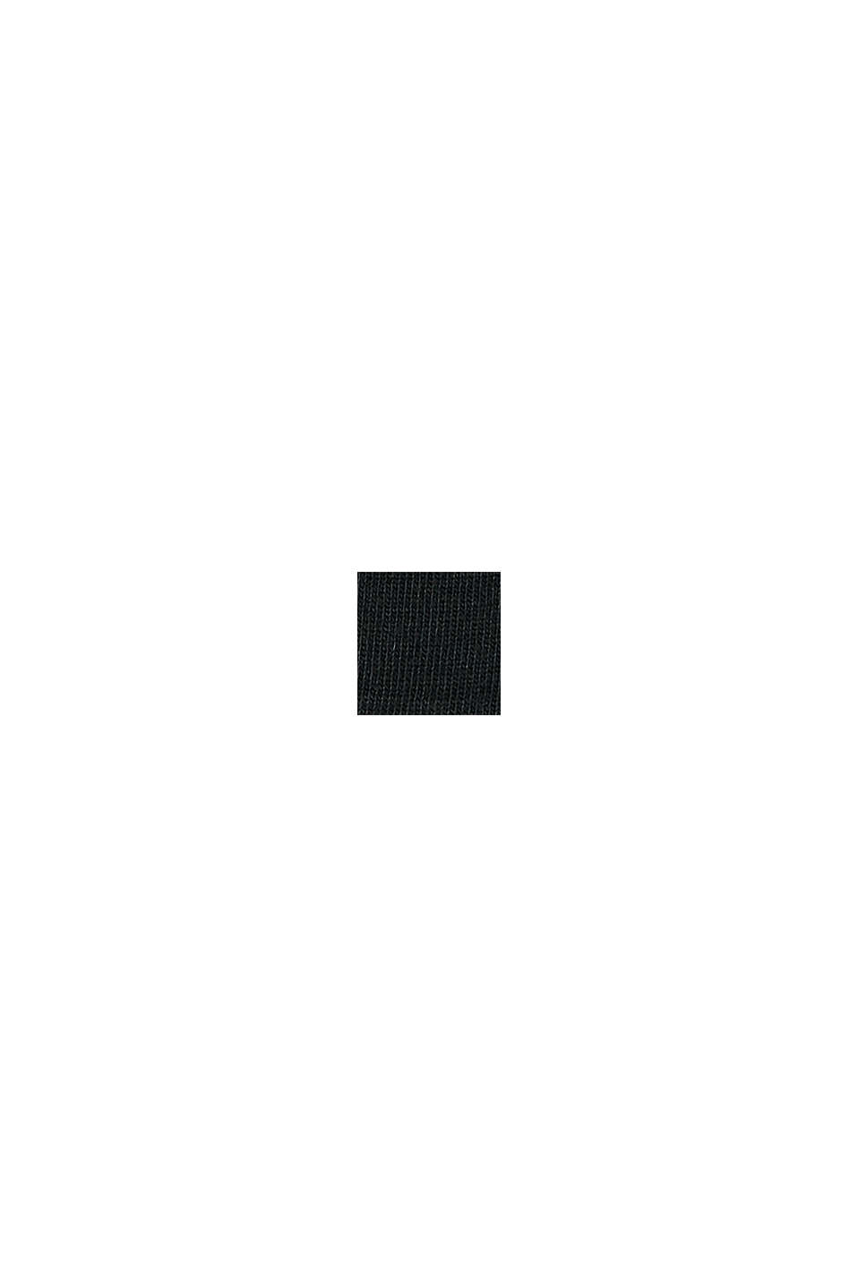 Strumpor med rullkant i bomullsmix, BLACK, swatch
