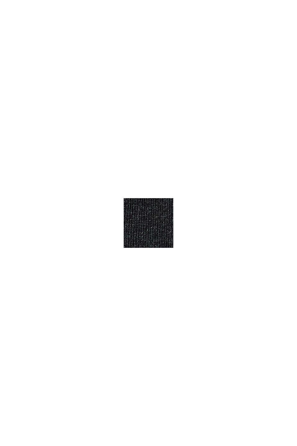 Strumpor med rullkant i bomullsmix, ANTHRACITE MELANGE, swatch