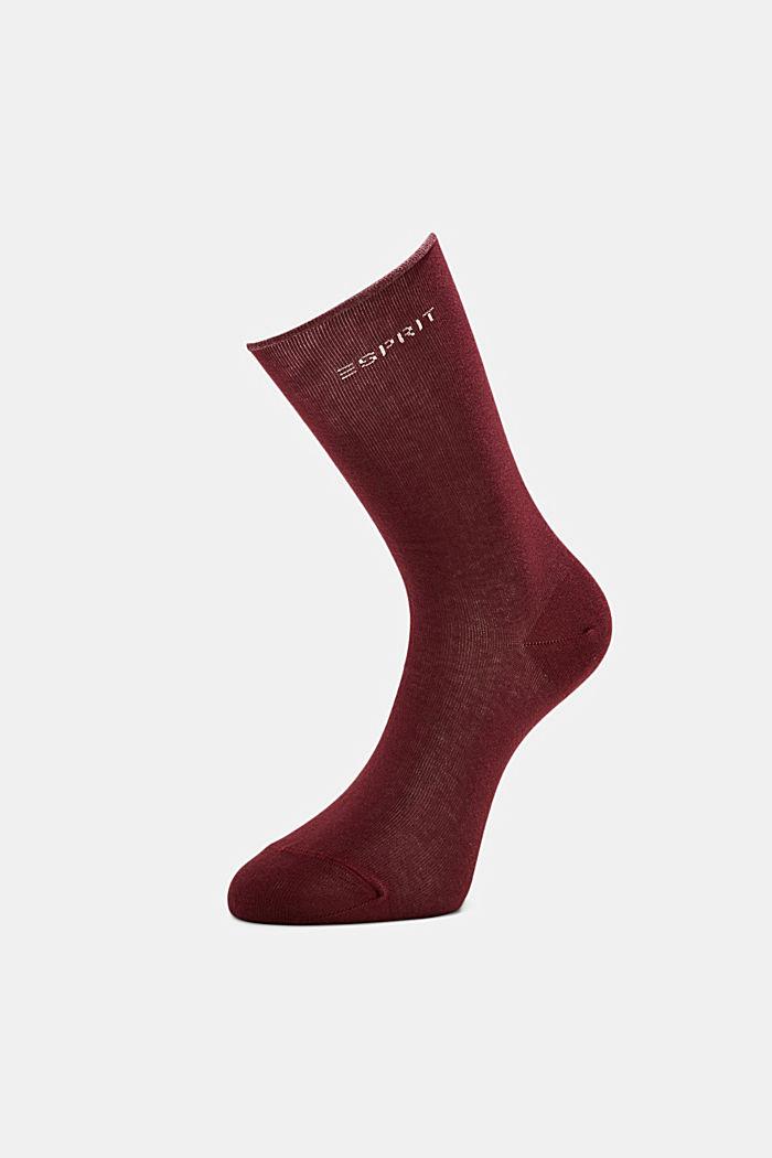 Sokker med rullekant af bomuldsblanding, SHADOW RED, detail image number 2