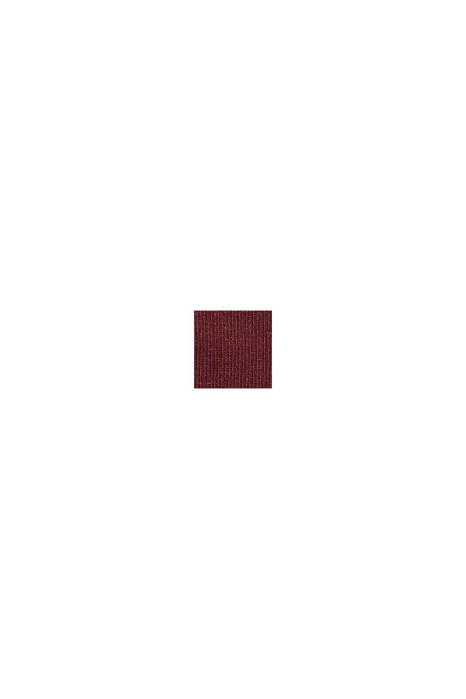 Strumpor med rullkant i bomullsmix, SHADOW RED, swatch