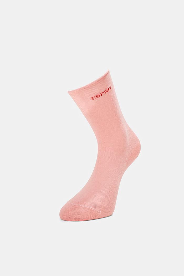 Socken mit Rollbündchen aus Baumwoll-Mix, ROSEWOOD, detail image number 2