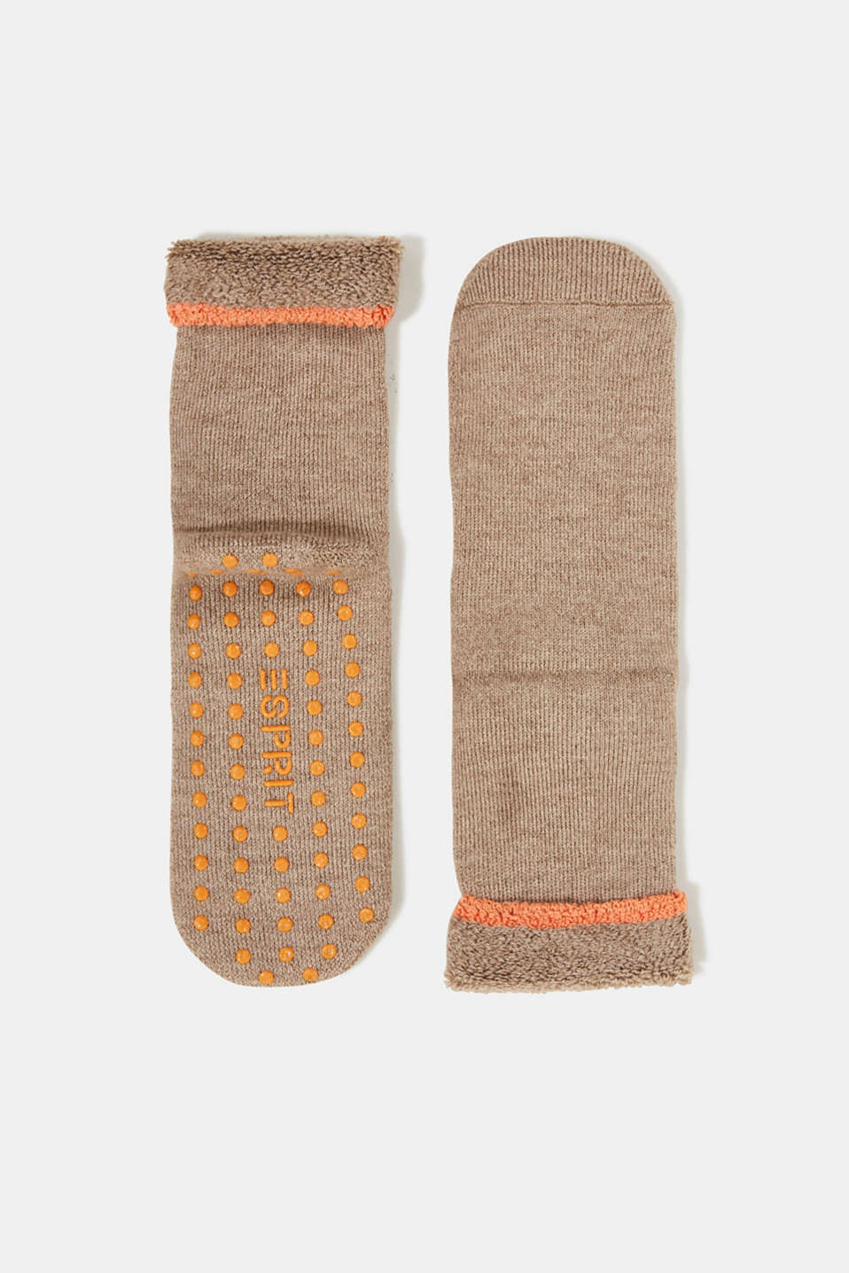 Esprit - Soft stopper socks with new wool