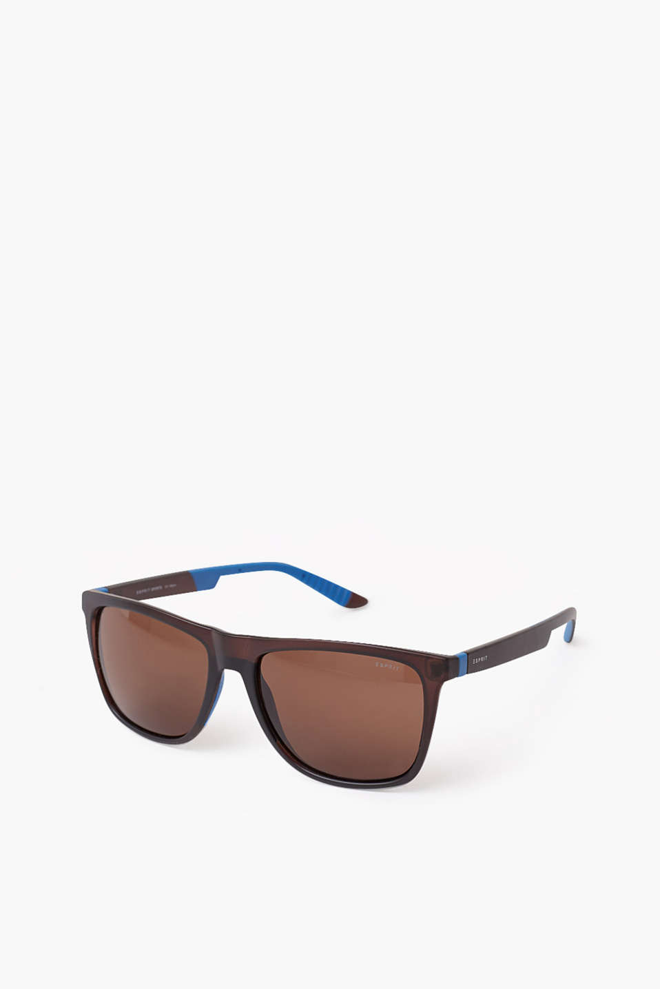 Sporty, elegant unisex sunglasses with matte temples