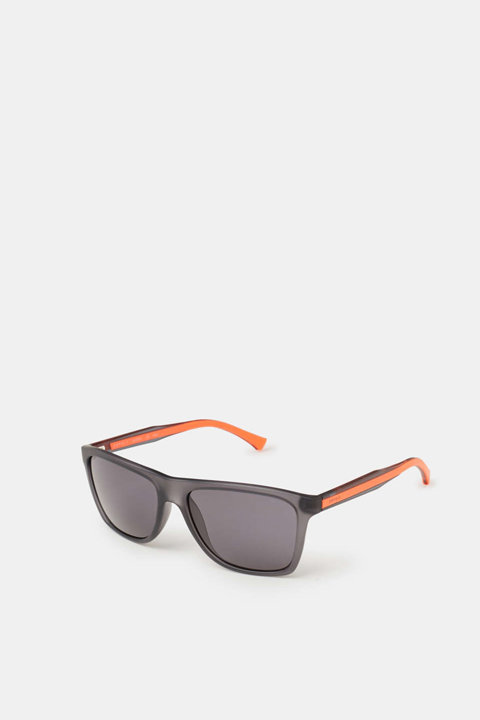Cool rubber details on the temples are extremely eye-catching: material mix unisex sunglasses
