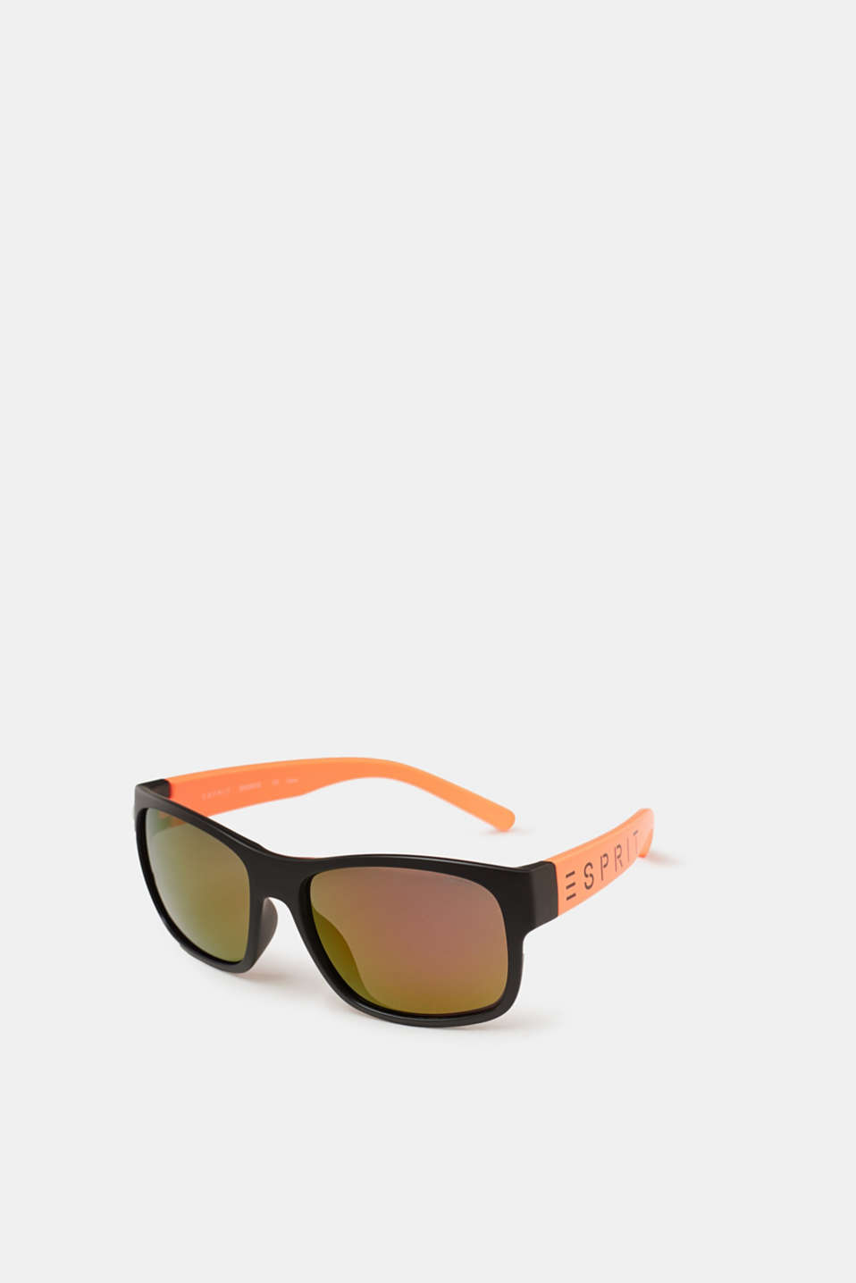 Unisex sunglasses with neon temples, ORANGE, detail image number 0