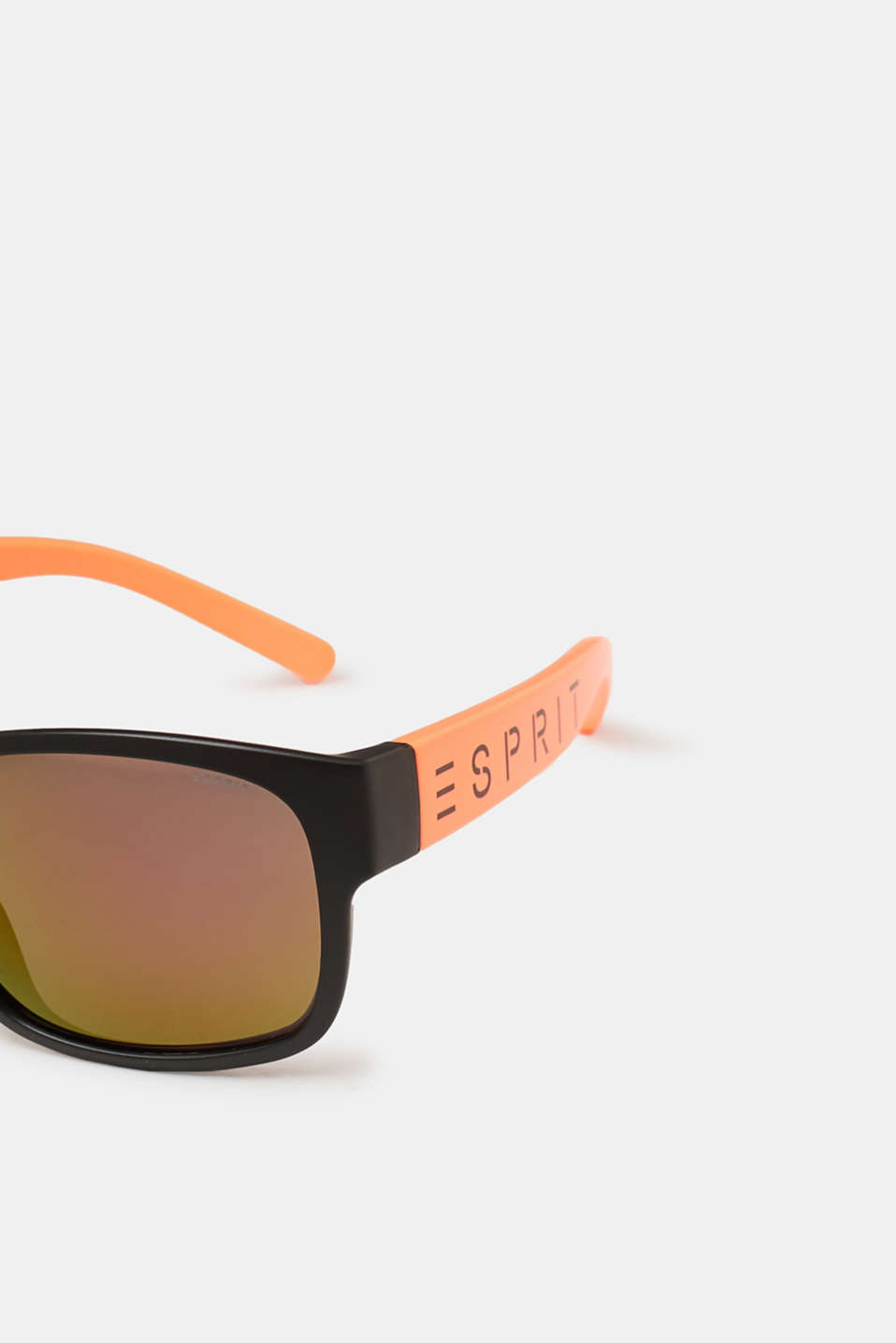 Unisex sunglasses with neon temples, ORANGE, detail image number 1