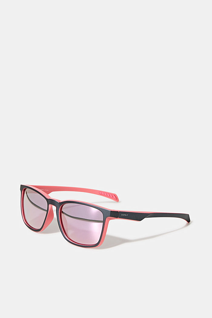 Sports sunglasses with mirrored lenses