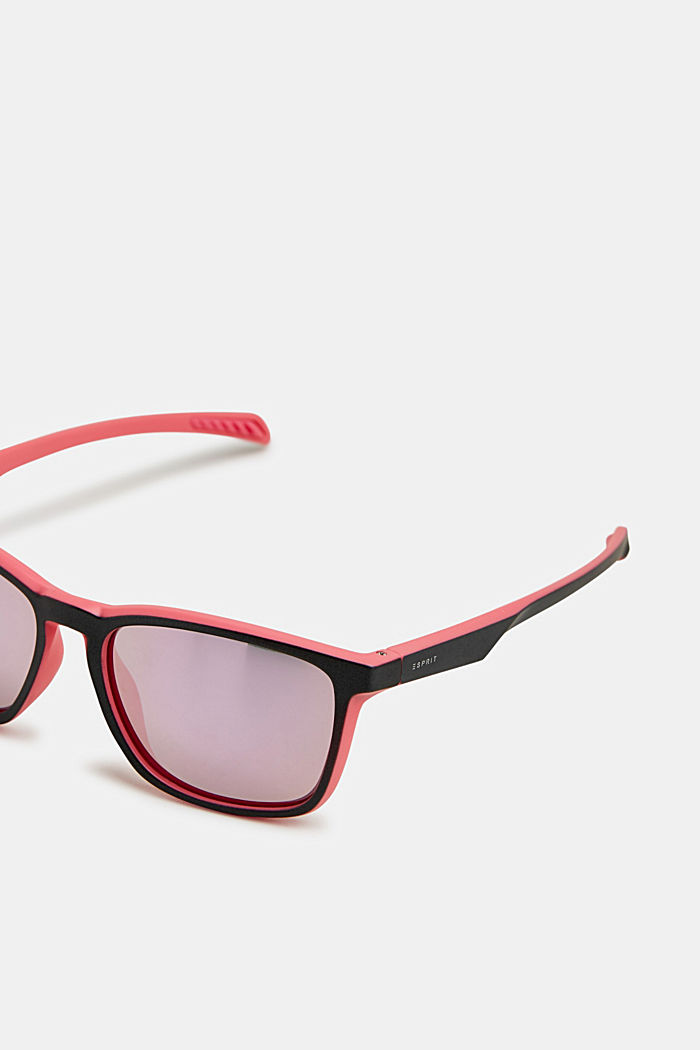 Sports sunglasses with mirrored lenses, ROSE, detail image number 3