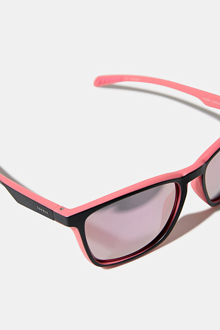 Sports sunglasses with mirrored lenses, ROSE, detail image number 1