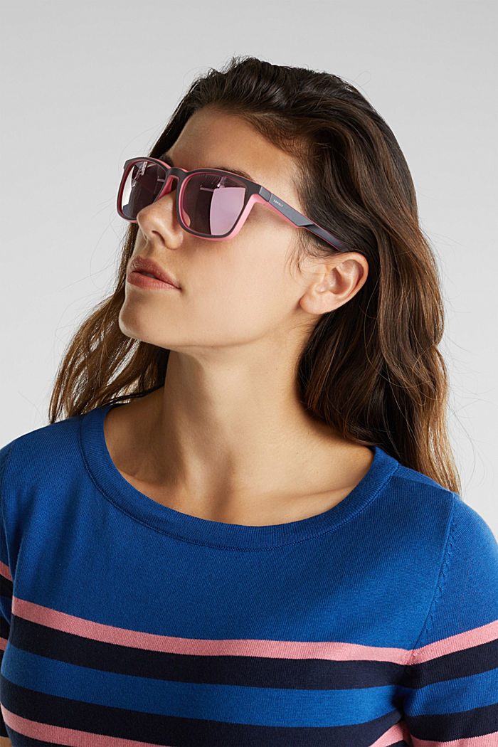 Sports sunglasses with mirrored lenses, ROSE, detail image number 2
