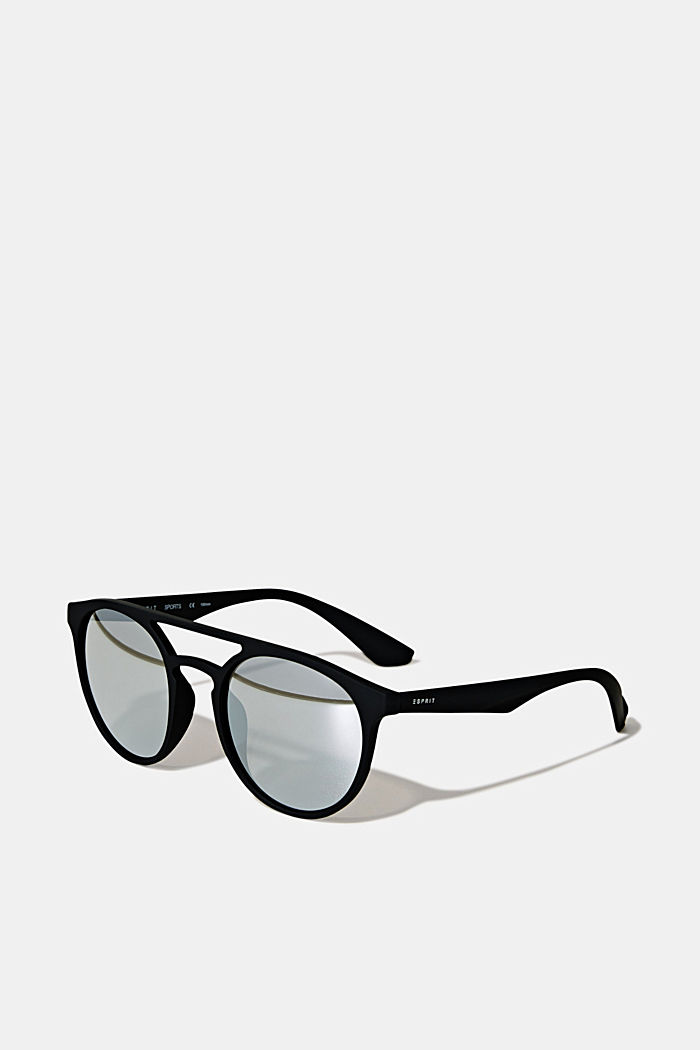 Sunglasses with mirrored lenses, BLACK, detail image number 0
