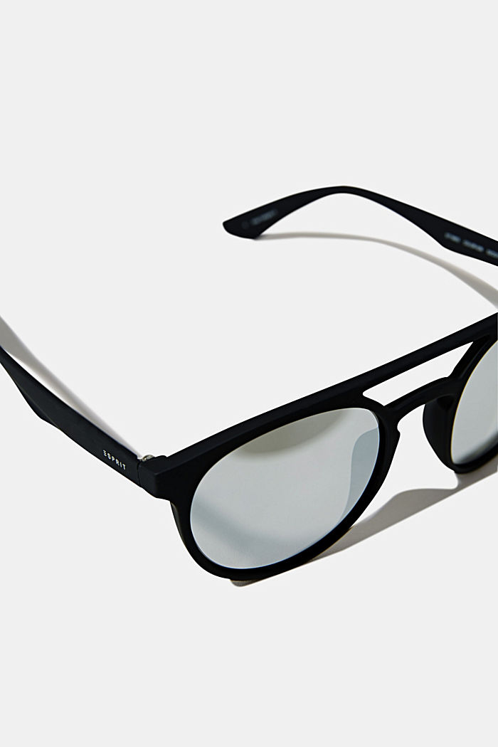 Sunglasses with mirrored lenses, BLACK, detail image number 1