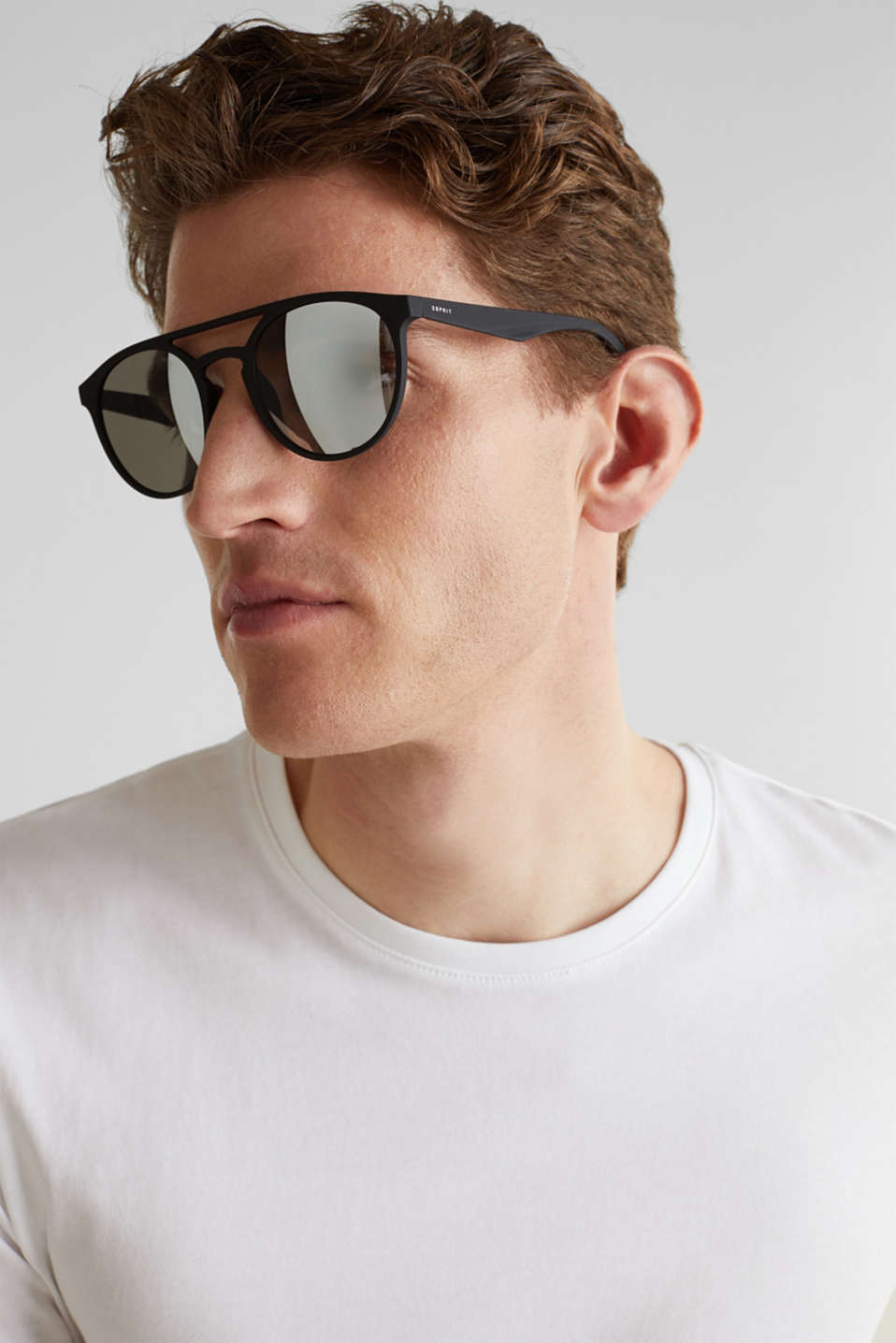 Sunglasses with mirrored lenses, LCBLACK, detail image number 2
