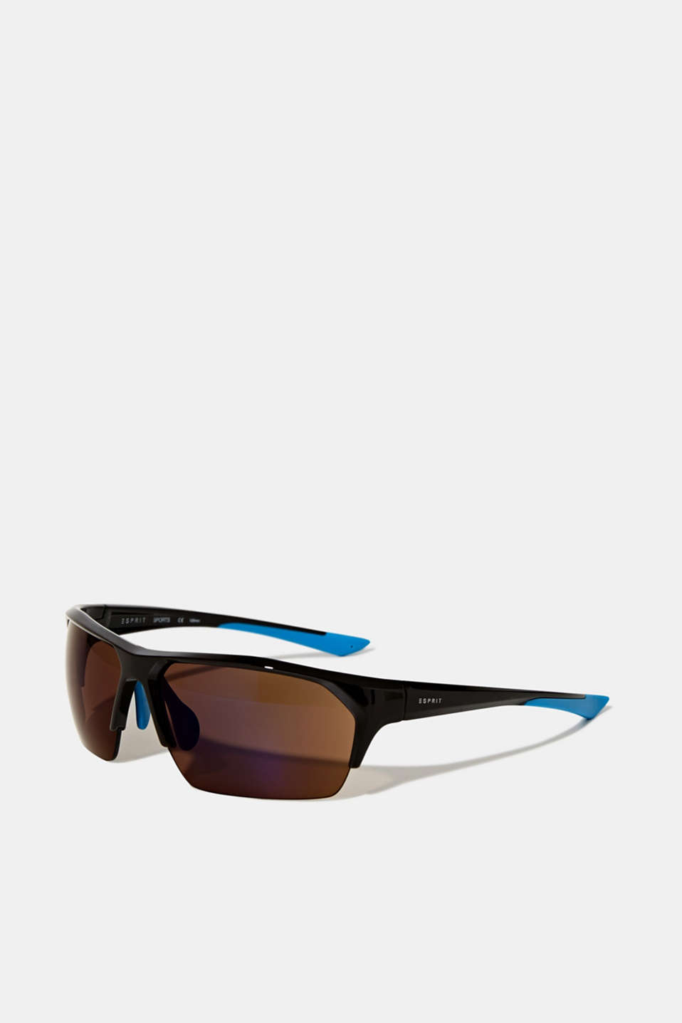 Sports sunglasses with mirrored lenses, LCBROWN, detail image number 0